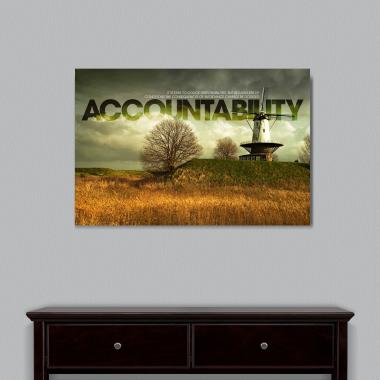 Accountability Windmill Motivational Art