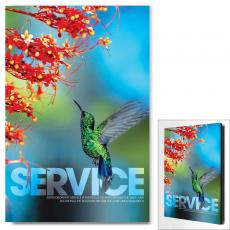 Modern Motivational Art - Service Hummingbird Motivational Art