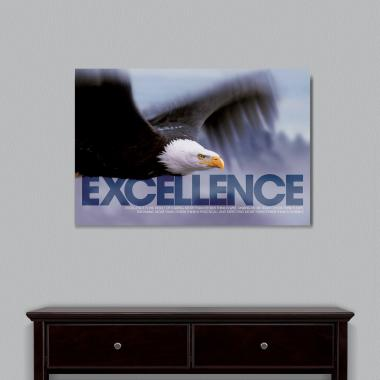 Excellence Eagle Motivational Art