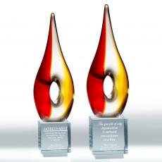 Colored Glass and Crystal Awards - Pendant Glass Award