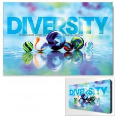 Modern Motivational Art - Diversity Marbles Motivational Art