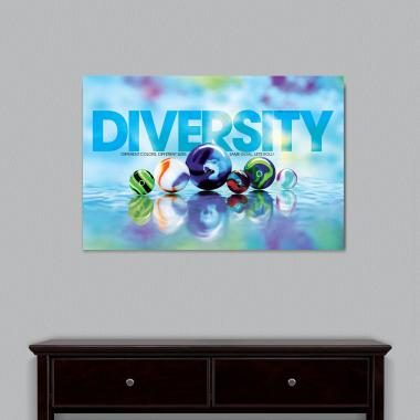Diversity Marbles Motivational Art