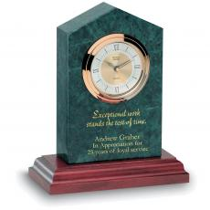 Engraved Clock Awards - Marble Cathedral Clock