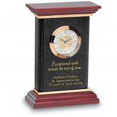 Engraved Clock Awards - Marble Pillar Clock