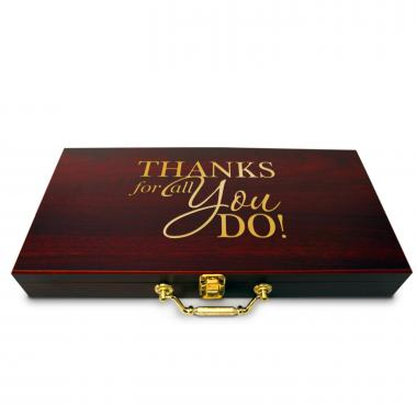 Thanks for All You Do Personalized Poker Set