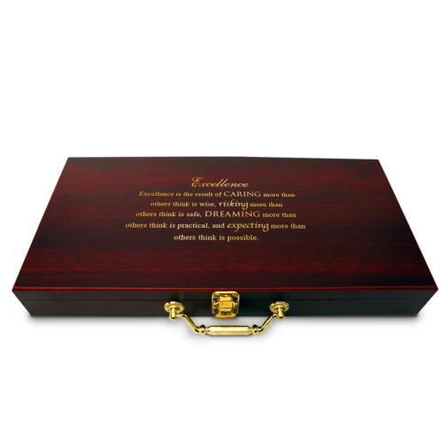 Executive Personalized Poker Set