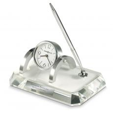Clocks & Timers - Personalized Crystal Desk Clock