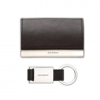 Black Personalized Business Card Holder