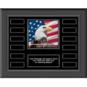 Pride Eagle Gunmetal Horizontal Perpetual Plaque