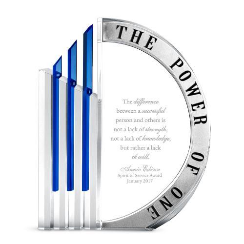 Power of One Crystal Award