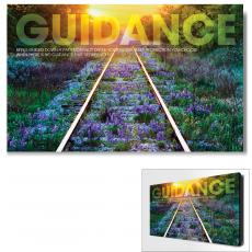 Modern Motivational Art - Guidance Railroad Tracks Motivational Art