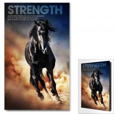 Modern Motivational Art - Strength Mustang Motivational Art