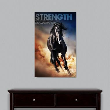 Strength Mustang Motivational Art