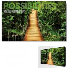 Modern Motivational Art - Possibilities Wooden Bridge Motivational Art
