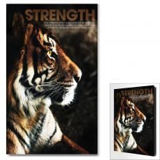 Modern Motivational Art - Strength Tiger Motivational Art