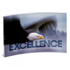 Executive Gifts - Excellence Eagle Curved Desktop Acrylic