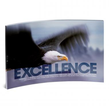 Excellence Eagle Curved Desktop Acrylic