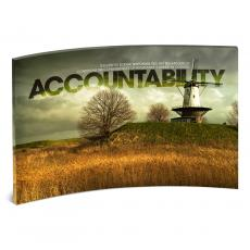 Acrylic Desktop Prints - Accountability Windmill Curved Desktop Acrylic