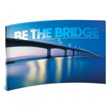 Modern Motivational Prints - Be the Bridge Curved Desktop Acrylic