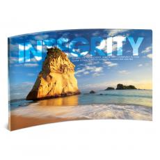 Acrylic Desktop Prints - Integrity Rock Curved Desktop Acrylic