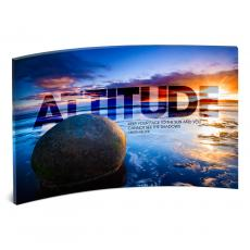 Modern Motivational Prints - Attitude Boulder Curved Desktop Acrylic