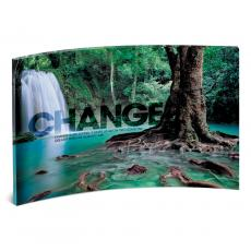 Acrylic Desktop Prints - Change Forest Falls Curved Desktop Acrylic