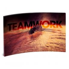 Acrylic Desktop Prints - Teamwork Rowers Curved Desktop Acrylic