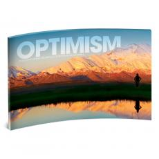 Acrylic Desktop Prints - Optimism Mountain Curved Desktop Acrylic