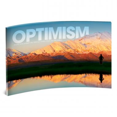 Optimism Mountain Curved Desktop Acrylic