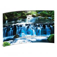 Acrylic Desktop Prints - Power Waterfall Curved Desktop Acrylic