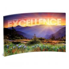 Desktop Prints - Excellence Sunrise Mountain Curved Desktop Acrylic