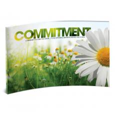 Modern Motivational Prints - Commitment Daisy Curved Desktop Acrylic