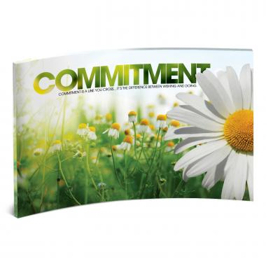 Commitment Daisy Curved Desktop Acrylic