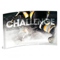 Acrylic Desktop Prints - Challenge Hockey Curved Desktop Acrylic