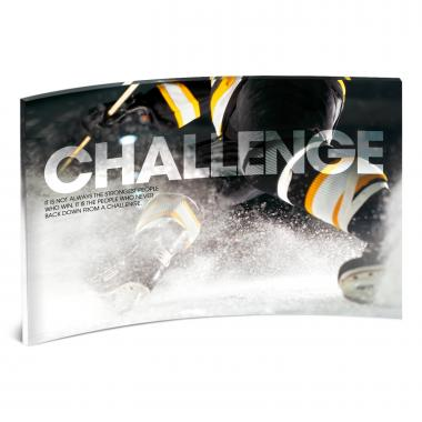 Challenge Hockey Curved Desktop Acrylic