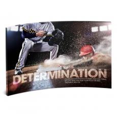 Desktop Prints - Determination Baseball Curved Desktop Acrylic