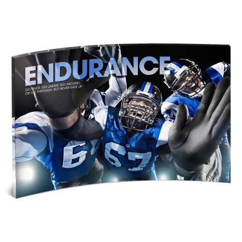 Endurance Football Curved Desktop Acrylic