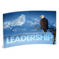 Acrylic Desktop Prints - Leadership Eagle Branch Curved Desktop Acrylic