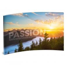 Desktop Prints - Passion Sunrise Curved Desktop Acrylic