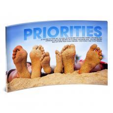Modern Motivational Prints - Priorities Beach Desktop Acrylic