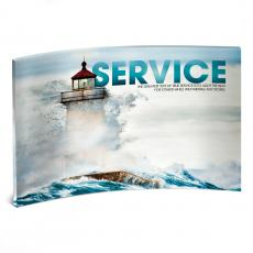 Acrylic Desktop Prints - Service Lighthouse Curved Desktop Acrylic