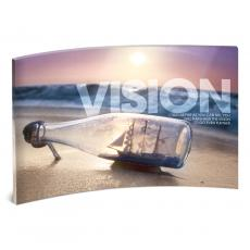 Modern Motivational Prints - Vision Bridge Curved Desktop Acrylic