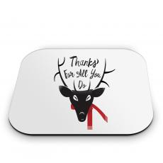 Mouse Pads - Thanks Reindeer Mouse Pad