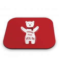 Mouse Pads - Thanks Polar Bear Mouse Pad