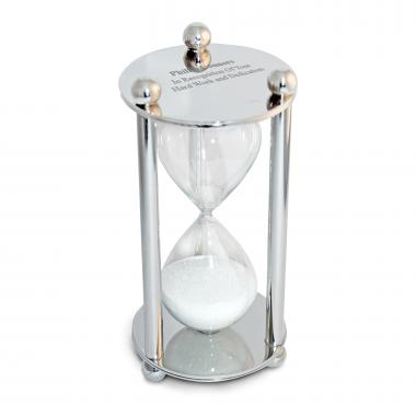 Chrome Personalized Sand Timer