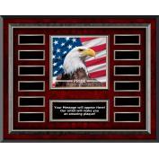 Pride Eagle Rosewood Horizontal Perpetual Plaque