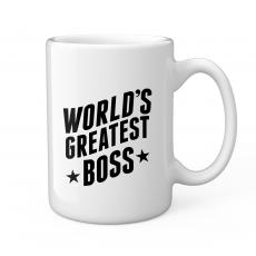 New Drinkware - World's Greatest Boss 15oz Ceramic Mug