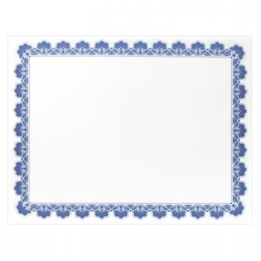 Blue Scalloped Certificate Paper