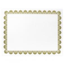 Classic Border - Gold Scalloped Certificate Paper