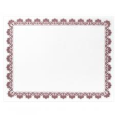 Classic Border - Maroon Scalloped Certificate Paper
